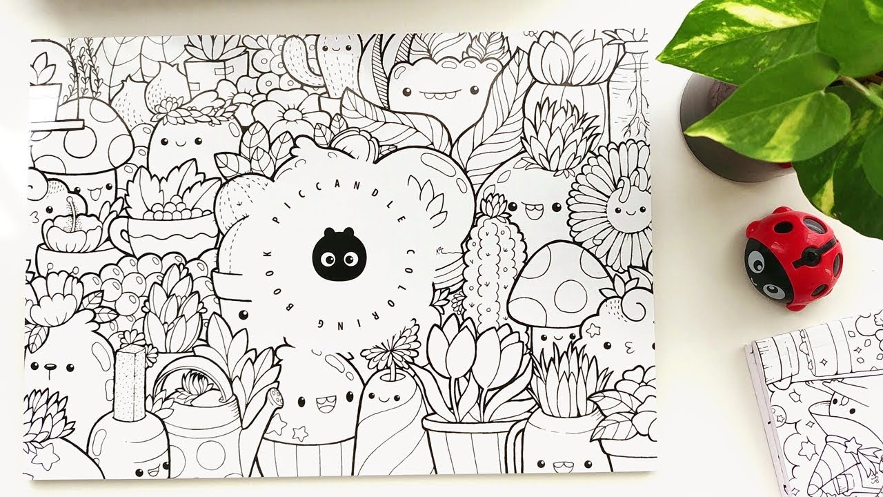 Doodle coloring book kawaii coloring pages inktober doodles