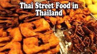 Thai Street Food on the Streets in Thailand. Street Food Vendors in Hat Yai