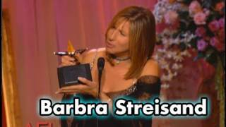 Barbra Streisand Accepts the AFI Life Achievement Award in 2001