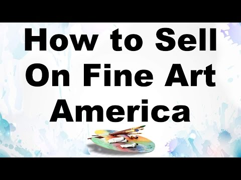 how to sell your paintings fine art america tutorial faa
