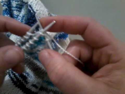 tuto tricot rabattre les mailles