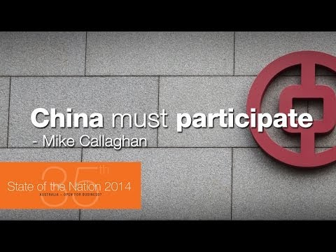 China must participate more in global finance - Mike Callaghan