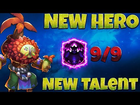 NEW* HERO | Plant Warrior | New Talent 9/9 Wicked Armor | GAMEPLAY [ CASTLE CLASH ]