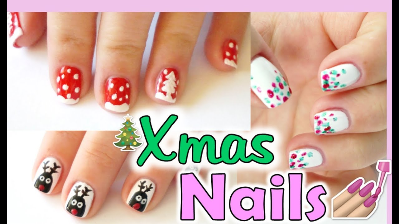 DIY X-MAS | Weihnachts Nageldesigns | RealNathaLee - YouTube