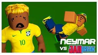 Jailbreak vs Neymar . World Cup match Russia 2018 on ROBLOX!