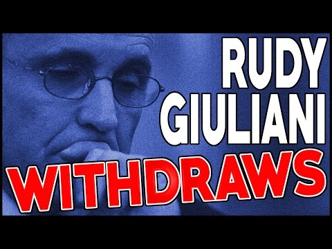 Rudy Giuliani Takes Himself Out Of The Running For Secretary Of State Or Any Other Cabinet Position