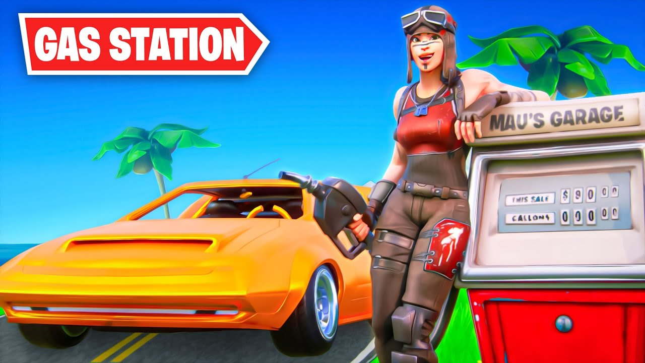 i opened a GAS STATION in fortnite.. thumbnail