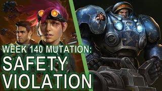 Starcraft II Co-Op Mutation #140: Safety Violation [Mines vs... PRECISION STRIKES]