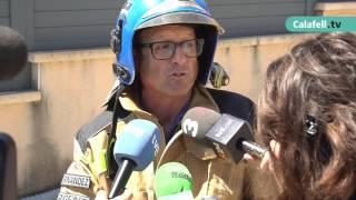 Explosió a Segur de Calafell amb dos ferits