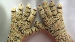 Перчатки. Вязание на спицах. How to Knit Gloves spokes