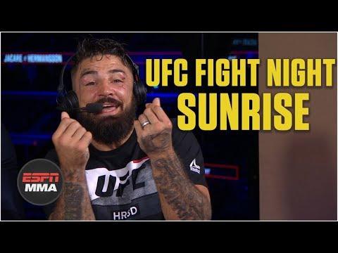Mike Perry celebrates UFC Fight Night performance bonus | ESPN MMA