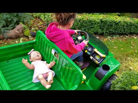 Thumbnail: Ride On Tractor for Kids - Baby Doll Balls Accident
