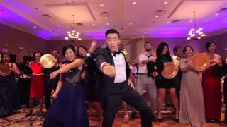 epic wedding music video with 250 guests in one take