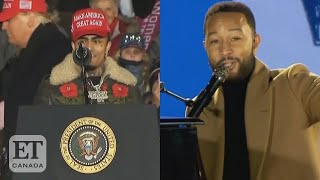 John Legend Calls Out Black Rappers At Biden Rally
