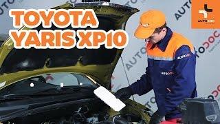Hvordan bytte luftfilter på TOYOTA YARIS XP10 BRUKSANVISNING   AUTODOC