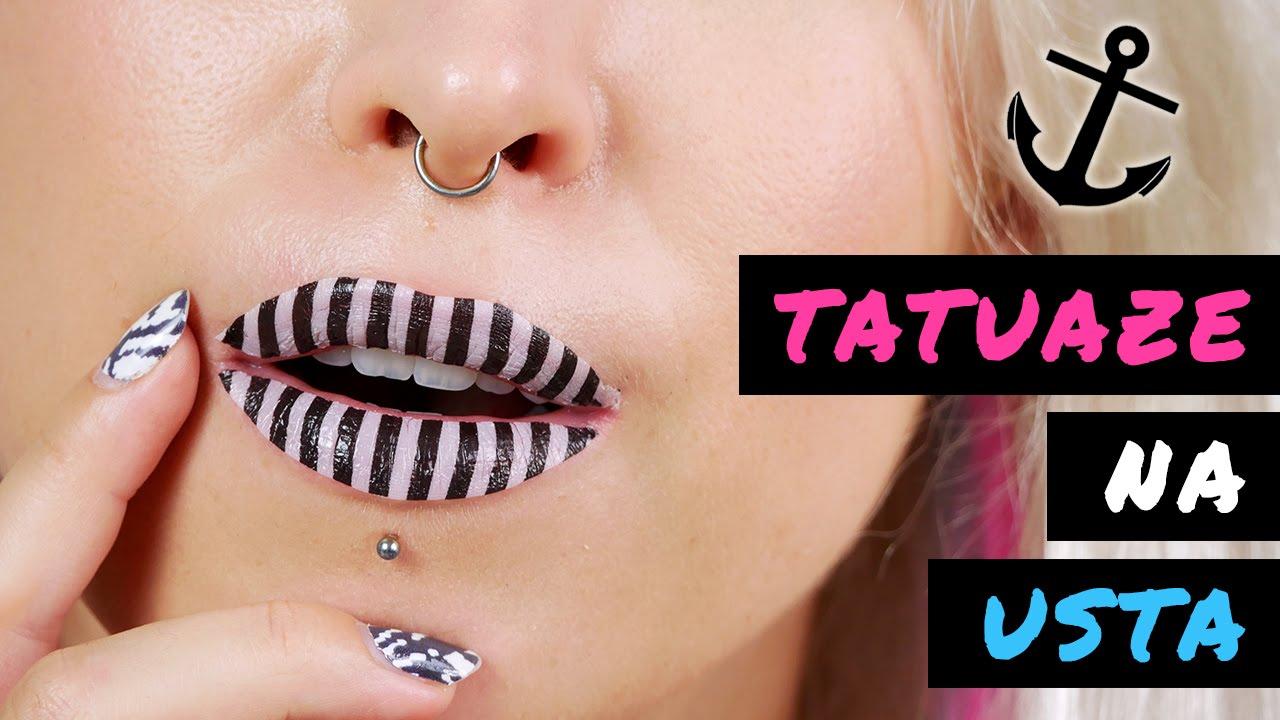 ♦ Tatuaże na usta - test na żywo - 3 wzory ♦