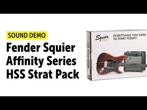 Fender Squier Affinity Series HSS Strat Pack Sound Demo (no Talking)