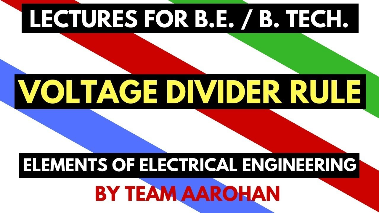 Voltage Divider In Electrical Engineering Manual Guide Wiring Calculator Rule Dc Network Basic Rh Youtube Com Current