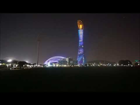 Amazing Aspire Tower Lit by 4,000 Color-Changing LED Lights | Qatar Top Attractions | [BEST OF]