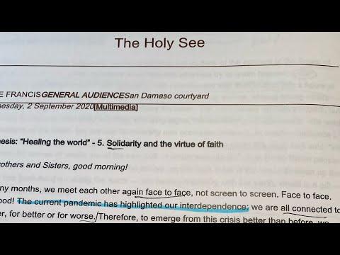 A Pilgrim Kingdom: Reading Our Holy Father!