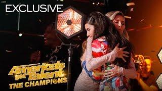 Angelina Jordan Thanks Heidi Klum For The Golden Buzzer! - America's Got Talent: The Champions