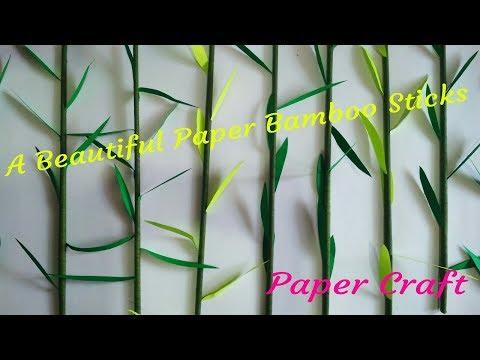 A Beautiful Paper Bamboo Sticks | Ganpati Decoration Idea