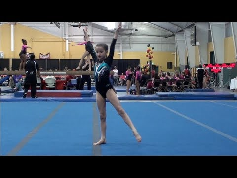 Annie the Gymnast-Level 5 Gymnastics Meet-7 Year old - YouTube