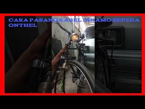 Merakit kabel dinamo lampu sepeda onthel