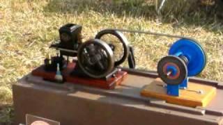 tiny model replica of rle amanco petrol engine circa 1920