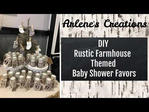 DIY Rustic Farmhouse Themed Baby Shower Favors