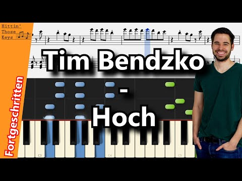 Tim Bendzko - Hoch | Piano Tutorial | German