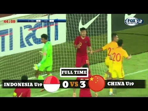 Timnas Indonesia U19 Vs China U19 0-3   Full Highlights PSSI 88th U-19 International Tournament 2018
