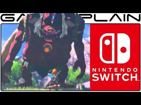 Zelda: Breath of the Wild - Nintendo Switch REVEAL Gameplay - Enhanced & Slow-Motion!