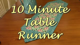 10 Minute Table Runner