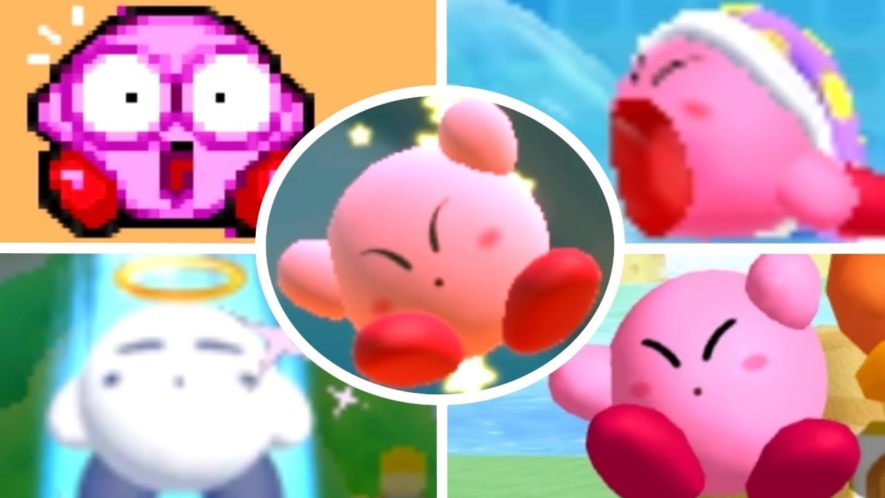 Evolution of Kirby Deaths and Game Over Screens (1992-2018)