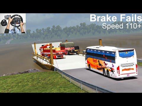 Volvo Bus Brake Fails | Bus Crash | Euro Truck Simulator 2 With Bus Mod | Bus Accident