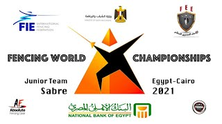 Junior Team Sabre Finals - Fencing World Championships Egypt Cairo 2021