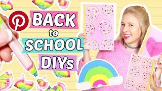 Coole BACK to SCHOOL DIYs 📚 Tumblr SCHULSACHEN selber machen & Pinterest Hacks 🌟