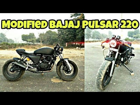 Modified Bajaj Pulsar 220 Into CafeRacer By Bittoo Bike Modification