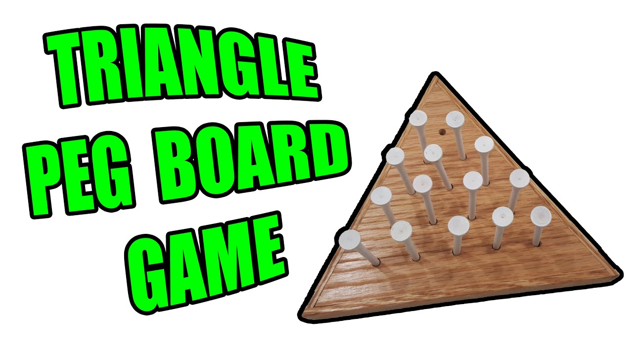 How To Make Wooden Triangle Peg Game Pyramid Peg Jump Game
