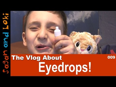 How to Give a Kid Eyedrops 👀 Vlog 👦📹 : Itchy Eyes in Kids 💐🌸🌼🌺 Spring Allergy Shiners