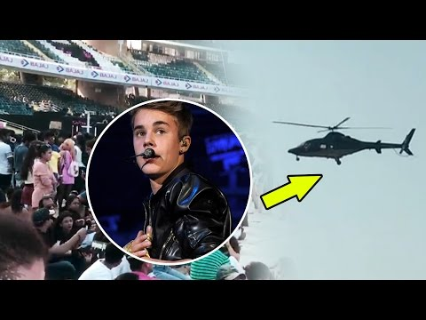 Justin Bieber's CHOPPER Arrives At DY Patil Stadium For LIVE CONCERT - Purpose Tour India