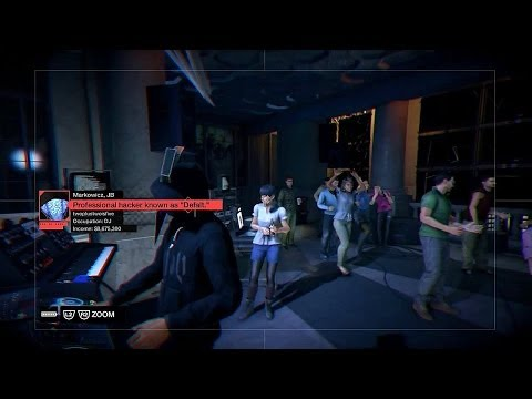 Watch Dogs - The Rat's Lair: Hack Defalt's Server Gives Aiden The Finger While DJ'ing Sequence