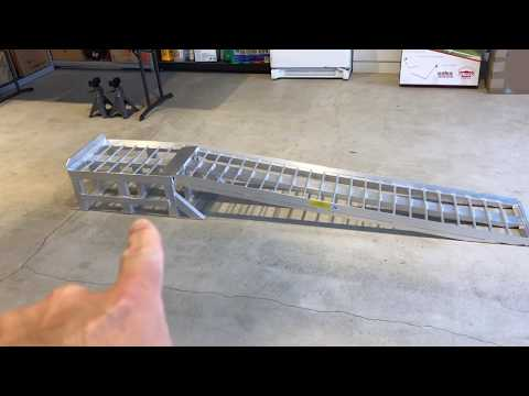 Aluminum racing ramps for the ZL1 make services quicker and easier.
