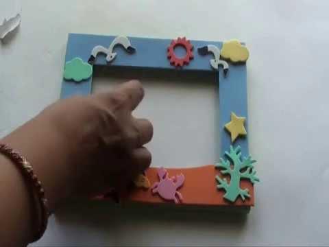 Make your own Foam Photo Frame - YouTube