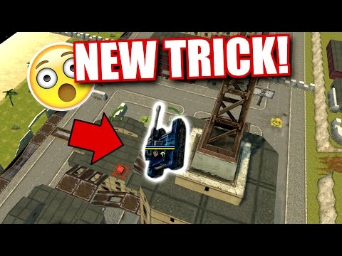 Tanki Online - NEW PARKOUR TRICK + CLIMBING THE RIO TOWER IN OMP! With Mohammed95s (Spacemode)