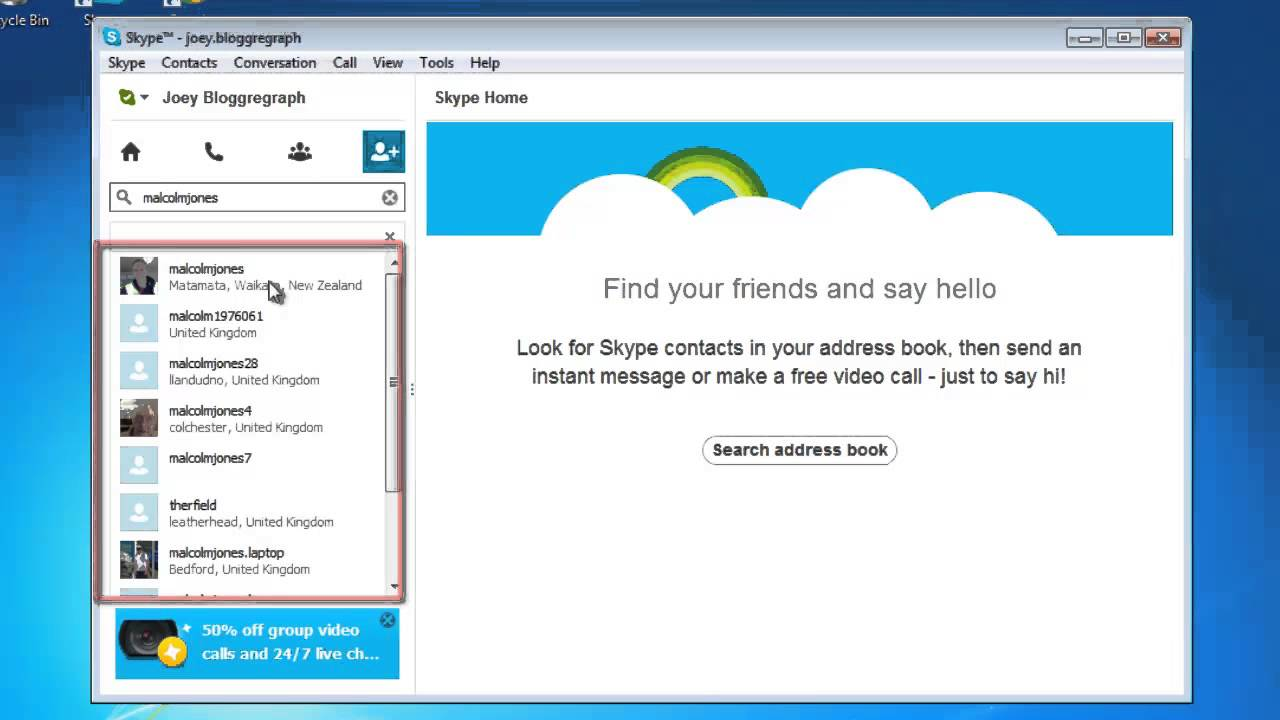 How To Send Skype Friend Request Youtube