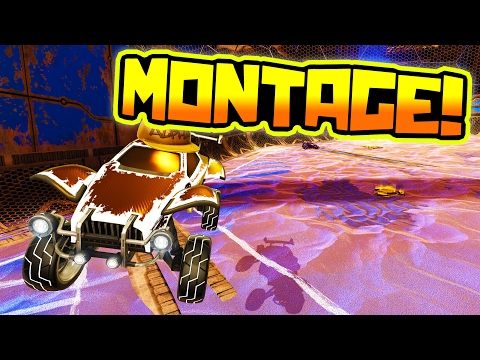 FIRST EVER ROCKET LEAGUE MONTAGE ON THIS CHANNEL!!