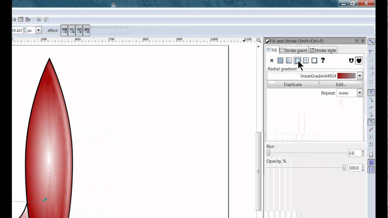 drawing a rocket ship in inkscape youtube