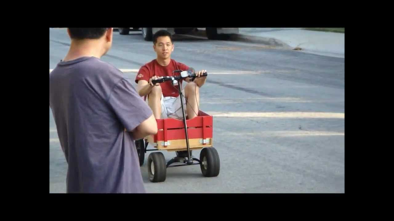 Motorized Radio Flyer Wagon Youtube